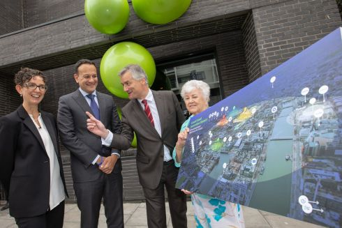 The great and good at the launch of a plan to create the Grand Canal Innovation District in Dublin. Photograph: Naoise Culhane