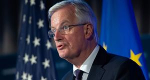 "EU chief Brexit negotiator Michel Barnier said the EU had offered the UK an ""ambitious"" free trade agreement and co-operation on a wide range of issues, including a ""strong security partnership"". Photograph: Saul Loeb/AFP/Getty Images"