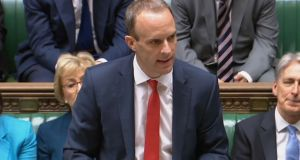 UK Brexit secretary  Dominic Raab outlining details the White Paper on Brexit in the   House of Commons on Thursday. Photograph:  PA Wire
