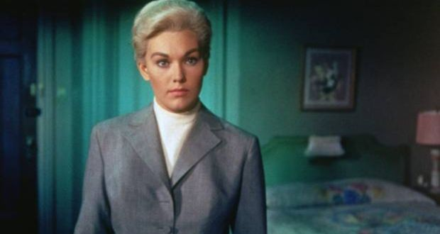 df755d55913a Kim Novak was unhappy with the colour of the iconic grey suit by costume  designer Edith