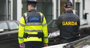Gardaí cordoned off the scene of the stabbing. File photograph: The Irish Times