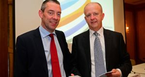 "DCC chief executive Donal Murphy (left) said the acquisitions ""significantly strengthen"" the company. Photograph: Eric Luke"