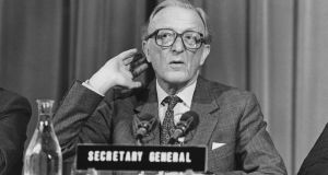 Peter Carrington: he served as secretary general of Nato from 1984 to 1988.  Photograph: Keystone/Hulton Archive/Getty