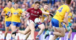Galway's Shane Walsh in action against Roscommon in the Connacht Final at  Dr Hyde Park. Photograph: Tommy Dickson/Inpho