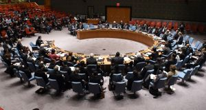 The UN Security Council in New York.  Photograph: Don Emmert/AFP/Getty Images