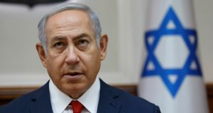 Israeli prime minister Benjamin Netanyahu: says Bill strikes a proper balance between Israel's Jewish character and its democratic principles. Photograph: Abir Sultan/AFP/Getty Images