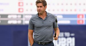 Robert Rock leads at the halfway stage of the Scottish Open. Photograph: Harry How/Getty