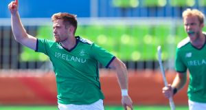 Shane Donoghue scored Ireland's goal in their 2-1 defeat to the USA. Photograph: James Crombie/Inpho