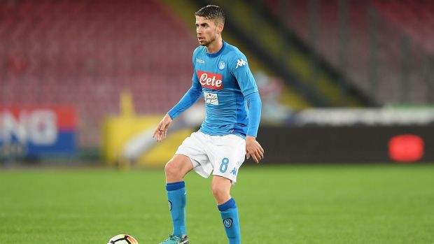 Chelsea have completed the signing of Napoli midfielder Jorginho. Photograph: Francesco Pecoraro/Getty