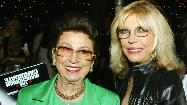 Nancy Sinatra with daughter and singer Nancy in 2004. Photograph: Kevin Winter/AFP/Getty Images