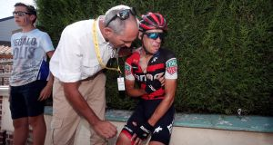 Australia's Richie Porte has been ruled out of the Tour de France after a crash during stage nine. Photograph: Benoit Tessier/Reuters