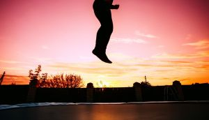 Trampoline folly: What goes up, must come down. Photograph: iStock