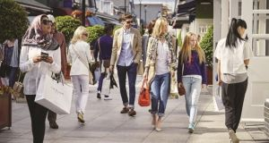Shoppers at Kildare Village: approximately 60 per cent of tax-free sales at Kildare Village last year were made by visitors from China