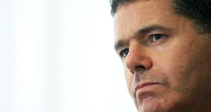 "Minister for Finance Pascal Donohoe said records on Civil Service staff alone, as at the end of May, showed there were ""just below 1,000 staff members"" on less than the living wage. Photograph: Brian Lawless/PA Wire"