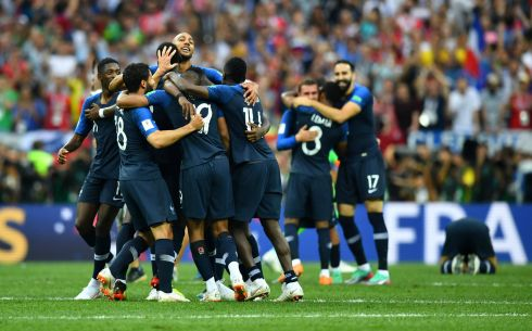 France players celebrate winning the World Cup  REUTERS/Dylan Martinez