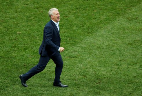 France coach Didier Deschamps celebrates after winning the World Cup  REUTERS/Maxim Shemetov