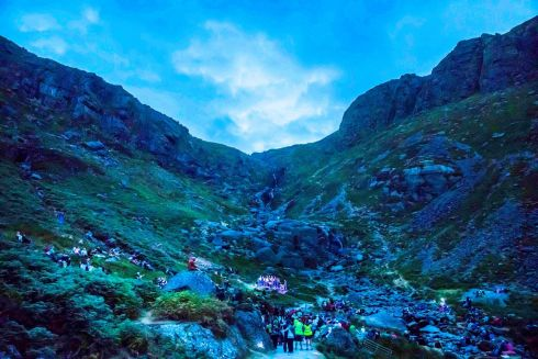 WILD NIGHTS: At Mahon Falls, Co Waterford, a Comeraghs Wild Festival night event featured the Dublin Gospel Choir. Photograph: Patrick Browne
