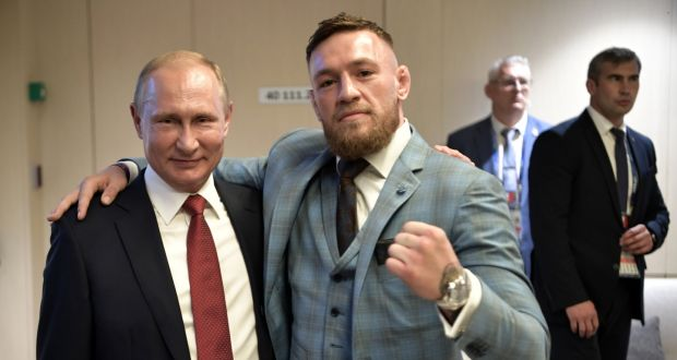 russian president vladimir putin and ufc fighter conor mcgregor photograph reuters