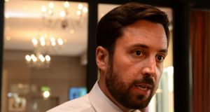 Eoghan Murphy: he has received advice from the Attorney General  on potential wording for a referendum on enshrining public ownership of water services in the Constitution.  Photograph: Cyril Byrne