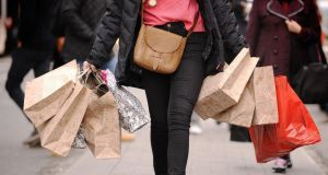 Northern Ireland's high street attracted the majority of the shoppers. Photograph: Dominic Lipinski/PA Wire