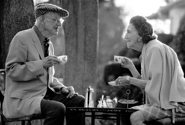 PG Wodehouse: the renowned toper, who lived to 93, with his wife, Ethel, in 1974. Photograph: Michael Brennan/Getty