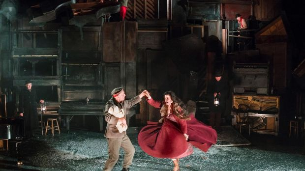 Patrick O'Kane and Camille O'Sullivan in Woyzeck in Winter. Photograph: Patrick Redmond