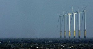 Wind turbines in the Irish Sea. Photograph: Reuters