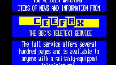 Teletext: the service was rarely perfect and was very patchy for a long time