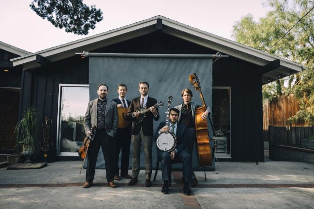 Punch Brothers: their formal look has long been their little visual joke, as if to say don't judge a band by its blazer. Photograph: Josh Goleman