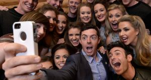 Rory McIlroy takes a selfie with the cast of Riverdance in 2015. Photograph: Charles McQuillan/Getty Images
