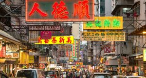 Cantonese street signs in Hong Kong. Photograph: iStock
