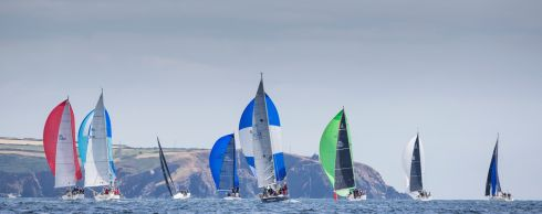 SAIL ON: Coastal course racing off Power Head, Co Cork, on the opening day of racing during Volvo Cork Week 2018, organised by the Royal Cork Yacht Club. Photograph: David Branigan/Oceansport