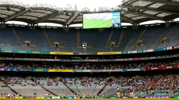 A view of Croke Park during Galway's Super 8s clash with Kerry. Photograph: James Crombie/Inpho