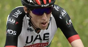 Ireland's Daniel Martin took a heavy fall during stage eight of the Tour de France. Photograph: Philippe Lopez/AFP/Getty