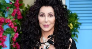 Cher  on the red carpet  for the world premiere of the film Mamma Mia! Here We Go Again in London on Monday. Photograph: AFP/Getty Images