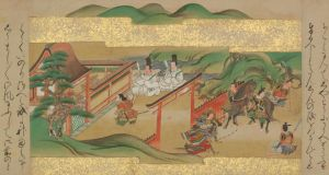The Valiant Adventures of Tawara Toda: part of the scrolls on view at the Chester Beatty Library until January 2019