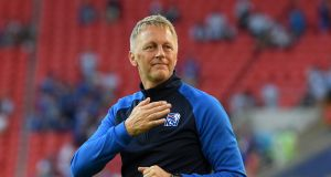 Heimir Hallgrimsson has stood down as manager of Iceland. Photograph: Matthias Hangst/Getty
