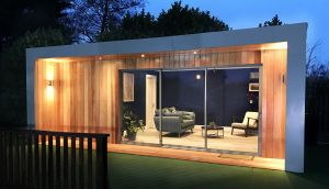 A 25sq m contemporary style  model from Garden House,  wired and insulated  costs €42,000.
