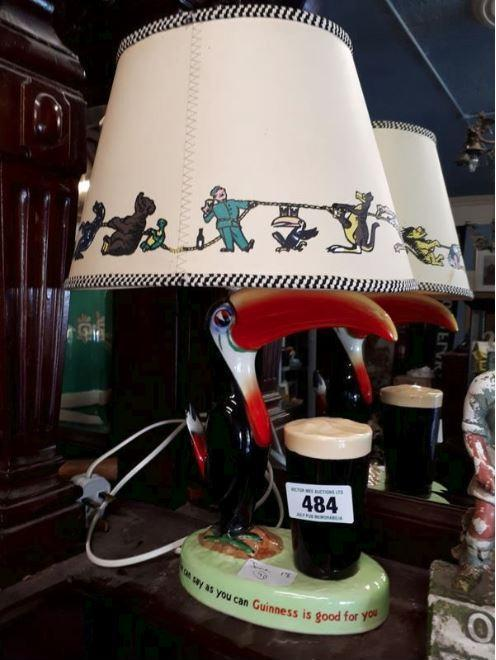 Toucan lamp from the 1950s, with its original shade