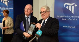 "Minister for Justice  Charlie Flanagan   and Chief Justice Frank Clarke: Amending legislation creates ""constant and shifting uncertainty"" in the interpretation of the law, says Mr Justice Clarke.   Photograph: Dara Mac Dónaill"