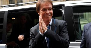 Singer Cliff Richard arrives at the high court in London for judgment in the privacy case he brought against the BBC. Photograph: Toby Melville/Reuters
