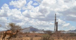 A Tullow Oil drilling block in Kenya. Photograph: Getty Images