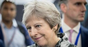 Britain's prime minister Theresa May will be in Northern Ireland on Thursday and Friday. Photograph: Matt Cardy/Getty Images