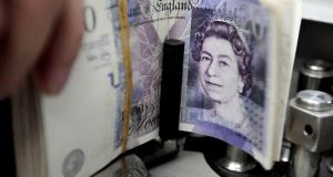 The pound dropped 0.4 per cent against the euro to 89.32 pence, and fell to a low of $1.3010 against the dollar, its weakest since September 5th. File photograph: Sukree Sukplang/Reuters
