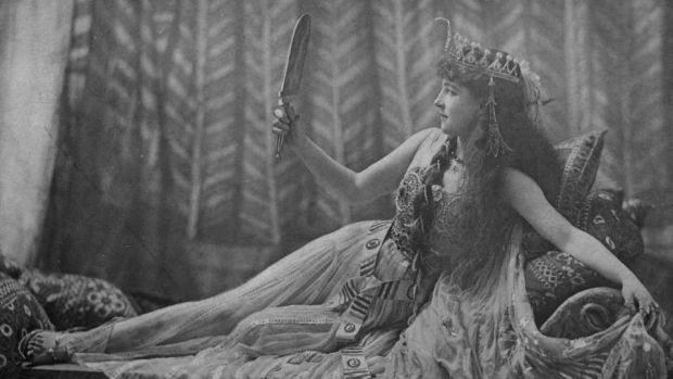 Famous Channel Islander: Lillie Langtry as Cleopatra around 1891. Photograph: Vanderweyde/LOC