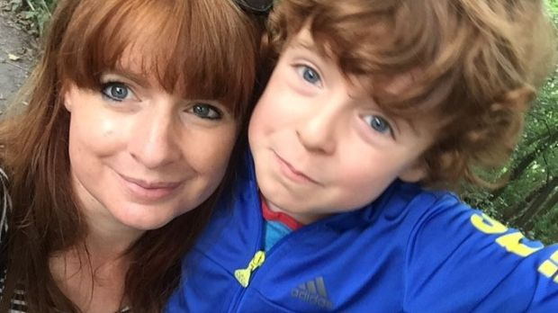 Anna Hodson and her son Lucas (6)