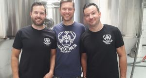 Brothers Paddy, Barry and Brian O'Neill who set up O Brother brewery 3½ years ago