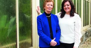 Mary Robinson and Maeve Higgins in Dublin. Higgins says she wasn't thinking about climate change on a day-to day-basis until she began working with Robinson. Photograph: Ruth Medjber