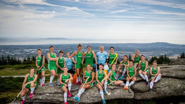 The Ireland hockey squad for the forthcoming World Cup in London. Photograph: Morgan Treacy/Inpho