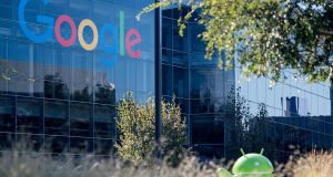 "The Googleplex in Menlo Park, California.  The EU  has given Google 90 days to end ""illegal"" practices surrounding its Android operating system or face further fines. File photograph: Josh Edelson/AFP/Getty Images"